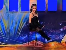 Dziewczyna linoskoczek w Ukrai�skim Mam Talent