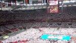 Hymn Polski podczas otwracia M� w Siatk�wce