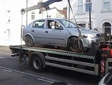 Odholowywanie �le zaparkowanego samochodu