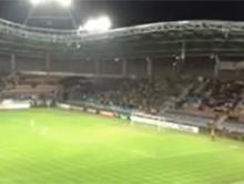 Fani Bia�orusi i Ukrainy zjednoczyli sie podczas meczu kwalifikacyjnego by �piewac o Putinie.
