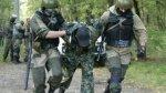 Pijany Rosyjski commando na Kaukazie