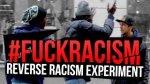 SZOKUJ�CY rasistowski eksperyment socjologiczny ''Bia�ego murzyn mo�e gn�bi�''