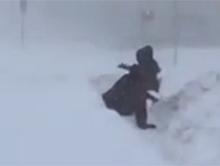 Typowa zima w Rosji