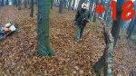 Rozwieszanie linek w lesie