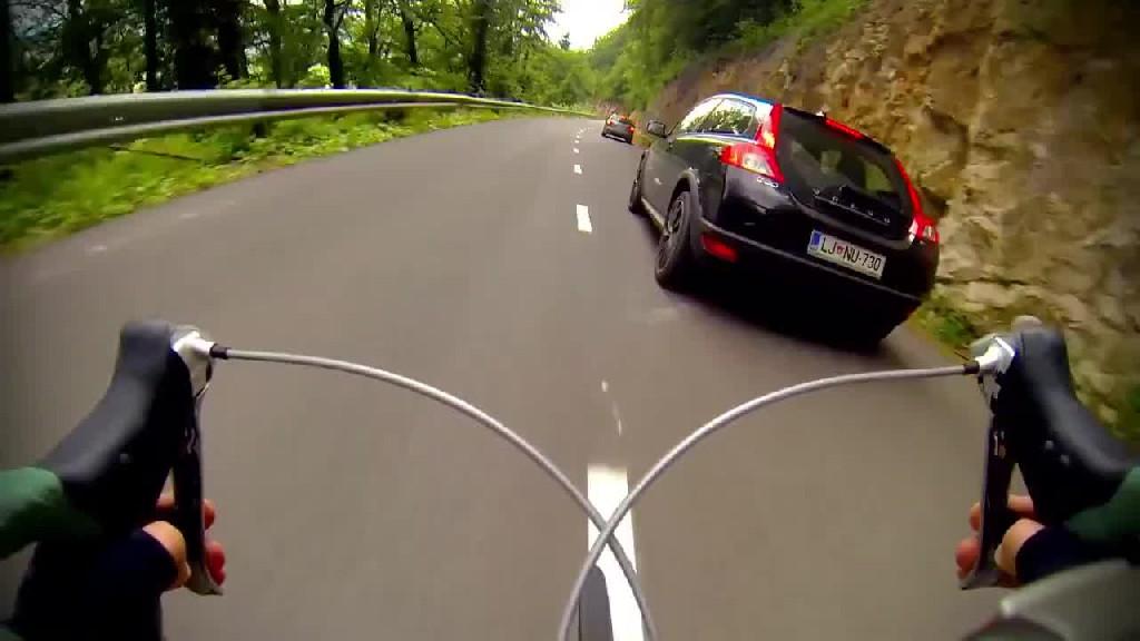 Szybki zjazd rowerem