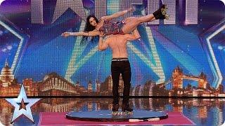 Niebezpieczny taniec rodze�stwa na wrotkach w brytyjskim Mam Talent