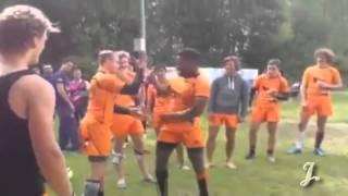 Holenderskie przywitanie przed meczem