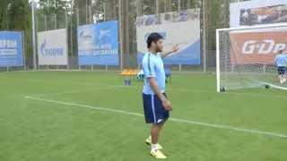 Zabawna sytuacja na treningu Zenitu Petersburg