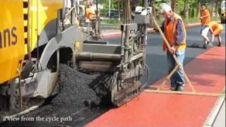 Budowa pas�w ruchu dla rower�w.