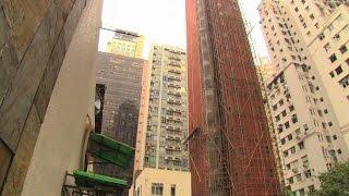 Na takich rusztowaniach pracuje si� w Hong Kongu