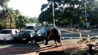 Wkurzony rowerzysta