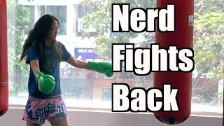 Nerdy girl beats  ...