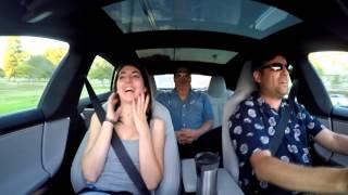 Tesla P85D reacti ...