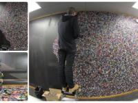 60 tysięcy kapsli na ścianie