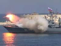Rosyjski okręt odpalił rakiety, ale coś poszło nie tak