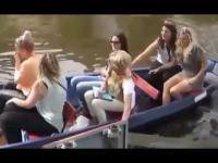 Filmik o tym jak 6 kobiet steruje łódką!!!