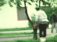 Agresywna jazda na rolkach - Szczecin retro