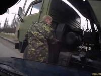 Ruski żołnierz miał szczęście