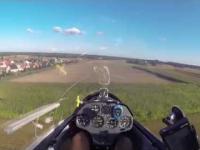Awaryjne lądowanie szybowcem