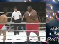 David vs Goliath - zabawna walka na ringu