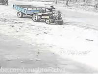 odpalanie traktora po pijaku