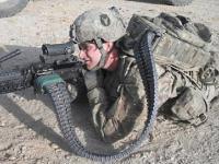 Wojskowy plecak z amunicją