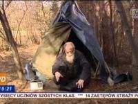 Walka bezdomnego o ziemiankę