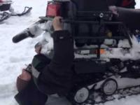 Skuter śnieżny - nie dla idiotów