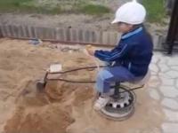 Turecka koparka dla dziecka