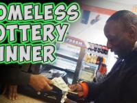 Bezdomny wygrywa los na loterię