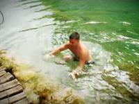 Pływak jezior Plitwickich Chorwacja