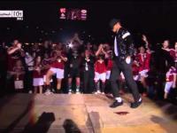 Kevin Prince Boateng tańczy po zdobyciu mistrzostwa Włoch przez AC Milan