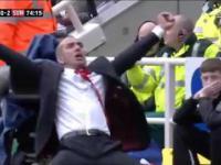 Szalona radość Paolo Di Canio po bramce Sunderlandu