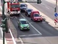 Zielony kierowca kontra straż pożarna