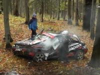 BIG CRASH 49 Rajd Dolnośląski 2015 - Jurecki / Trela - Opel Astra