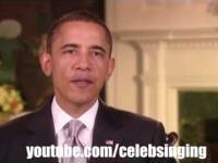 Barack Obama śpiewa