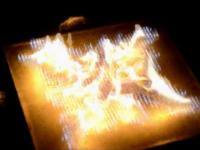 Zamiast pikseli - małe płomienie