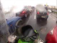 Kompilacja wypadków motocyklistów