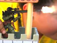 Zabawowe żołnierzyki strzelają naprawdę