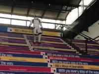 Szturmowiec na schodach