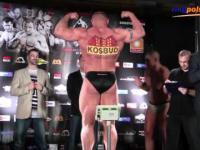 Oficjalne ważenie przed walką Mariusz Pudzianowski - James Thompson