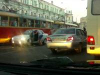 Konfrontacja na rosyjskiej ulicy