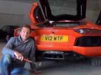 Pieczenie kiełbaski za pomocą  Lamborghini