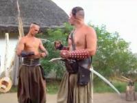 Ciekawy pokaz sztuki wojennej Kozaków