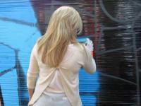 Warsztaty graffiti na pikniku rodzinnym