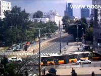 Warszawa czołowe zderzenie autobusów - wypadek 21.08.2014
