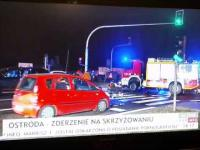 Wypadek na żywo w TVP Info
