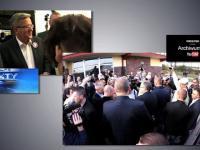TVN tego nie pokaże - prezydent Bronisław Komorowski - autografy dla agentów ochrony?- pytanie o WSI