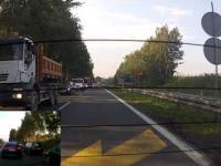 Blokowanie Lewego pasa przez kobietę szeryfa - Bielsko-Biała 17.09.2014