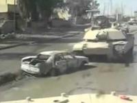 Samochód dla czołgu nie jest przeszkodą